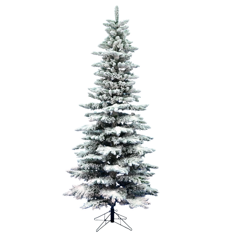 ft heavy flocked alaskan christmas tree no lights ebay. Black Bedroom Furniture Sets. Home Design Ideas