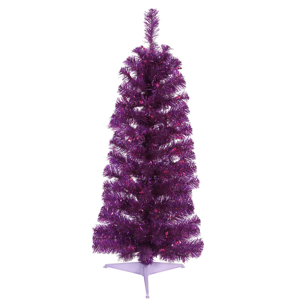 Purple And White Christmas Tree: Purple Artificial Christmas Trees
