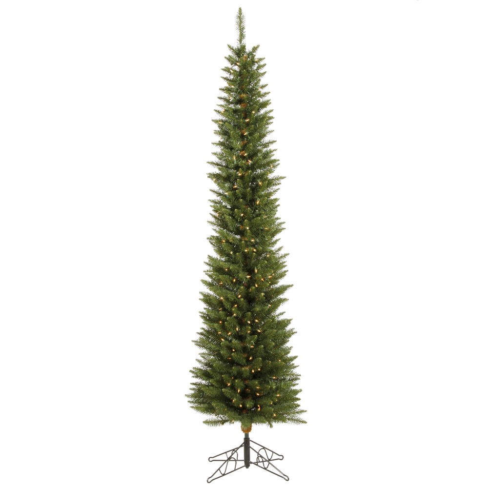 6 5 ft ultra slim pencil pine unlit narrow christmas tree not prelit durham new ebay. Black Bedroom Furniture Sets. Home Design Ideas