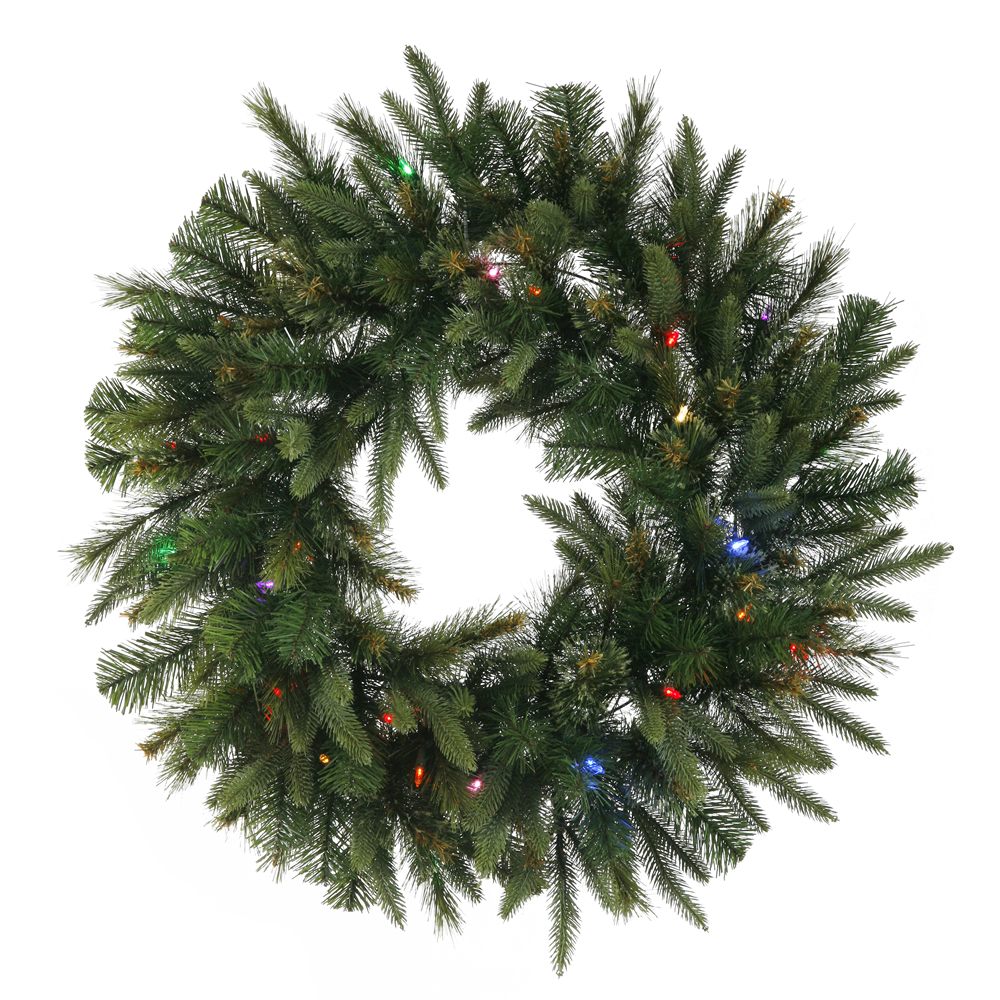 "84"" Cashmere Wreath LED 600Multi"