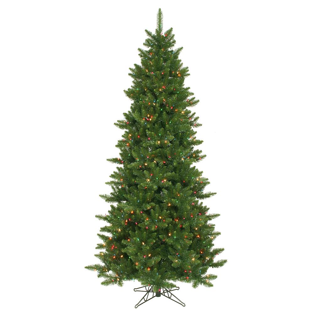 8 Christmas Tree Pre Lit: 8.5 FT SLIM CHRISTMAS TREE ~MULTI COLOR LIGHTS PRE-LIT