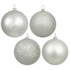"3"" Champagne Glitter Ball Drilled 12/Bag"