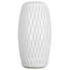 "Photograph of 13"" White Frosted Glass Vase"