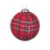 "Photograph of 3.25"" Red Plaid Ball Ornament"