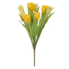 "12"" Yellow Tulip Bush w/12 flwrs"