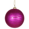 "Photograph of 4.75"" Cerise Matte-Glitter Ball 3/Box"