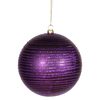 "Photograph of 4.75"" Purple Matte-Glitter Ball 3/Box"