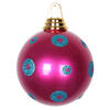 "Photograph of 4.75"" CeriseTrq PolkaDot Candy Ball 3/Bx"