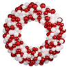"Photograph of 36"" Candy Cane Ball Wreath"