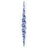 "14.6"" Baby Blue Shiny Spiral Icicle 2/Bx"