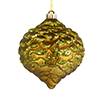"Photograph of 6"" Olive Glitter Pine Cone 6/Bag"