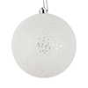 "Photograph of 3"" White Glitter Clear Ball 12/Bag"