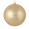 "Photograph of 4"" Champagne Glitter Clear Ball 6/Bag"