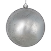 "Photograph of 4"" Silver Foil Finish Ball 6/Bag"