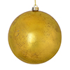 "Photograph of 4"" Gold Foil Finish Ball 6/Bag"