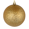 "Photograph of 4"" Copper Gold Brushed Ball 6/Bag"
