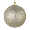 "Photograph of 4"" Champagne Brushed Ball 6/Bag"