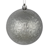 "Photograph of 4"" Pewter Brushed Ball 6/Bag"