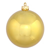 "Photograph of 2.4"" Gold Shiny Ball UV 24/Bag"