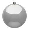 "Photograph of 6"" Silver Shiny Ball UV Drilled 4/Bag"