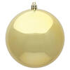 "Photograph of 6"" Gold Shiny Ball UV Drilled 4/Bag"