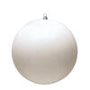 "Photograph of 4"" White Shiny Ball UV 6/Bag"